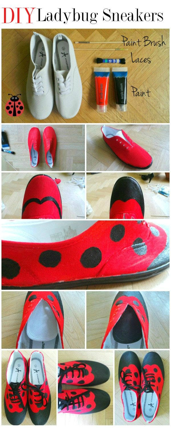 DIY Fashion Tutorial | Ladybug Sneakers