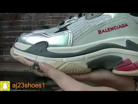 Balenciaga Triple S Sliver Unboxing Review From aj23shoes net ... e777cf7ca