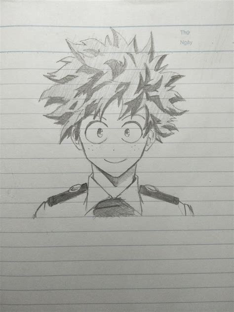 attempt  drawing deku    guys
