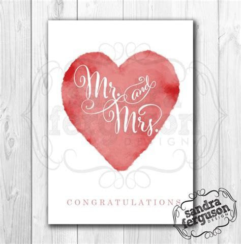 "5X7 Printable ""Mr And Mrs Congratulations"" Card #2608352"