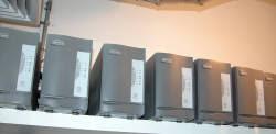 UPS rack in server closet