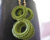 Double hoop crochet earrings