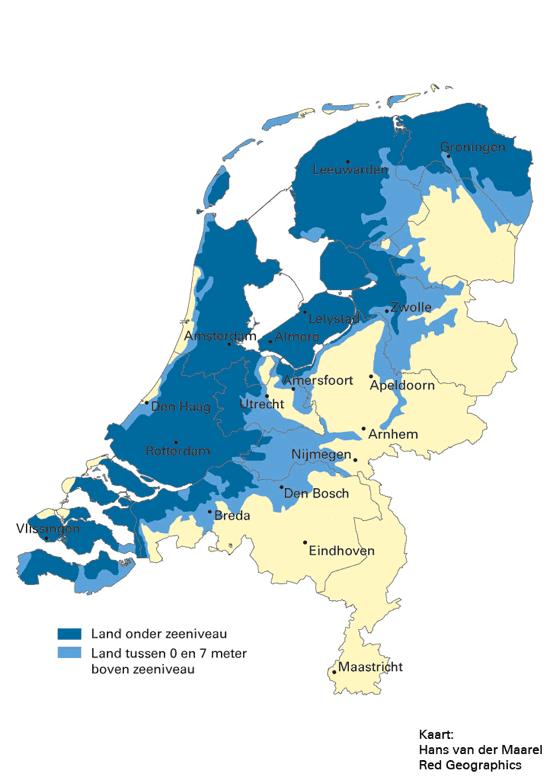 nap kaart nederland Nederland Onder Zeeniveau Kaart | Kaart