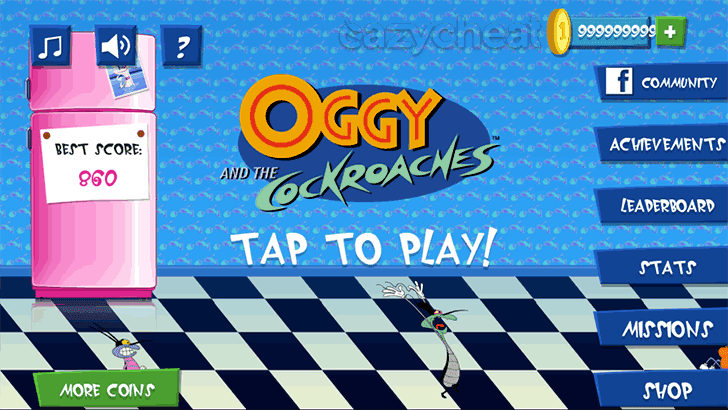 Oggy Unlimited Coin Cheat v1.3.1