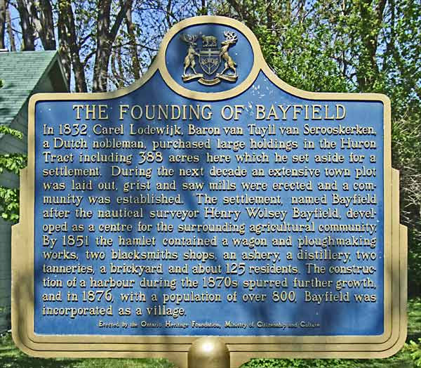 Image result for henry bayfield plaques