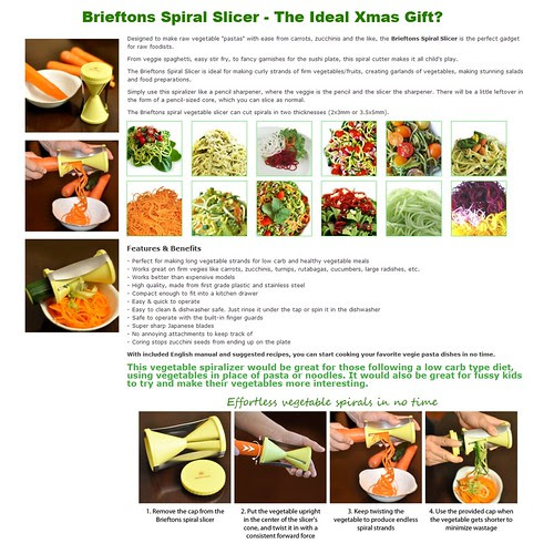 Brieftons spiral slicer promotion