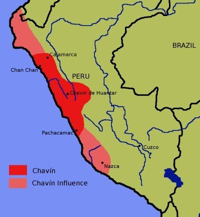 Chavin Civilization Map