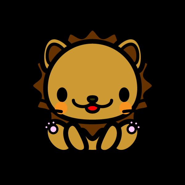 かわいいライオンの無料イラスト商用フリー オイデ43