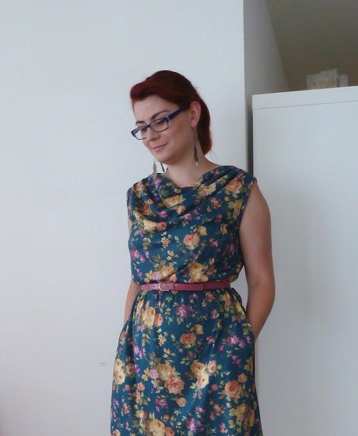 Cowl Neckline Wedding Gown Pattern: Cowl Neck Jersey Dress (plus A
