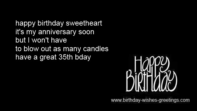 35th Birthday Greetings Best Friend 35 Year Old Bday Wishes