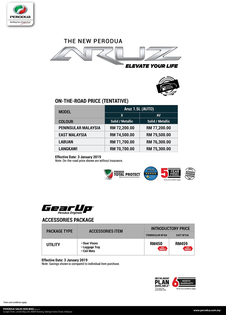 Perodua Aruz SUV Now Open For Booking; Official Launch