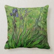 Iris by Vincent van Gogh throwpillow