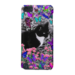 Freckles in Butterflies II - Tuxedo Cat iPod Touch (5th Generation) Cover