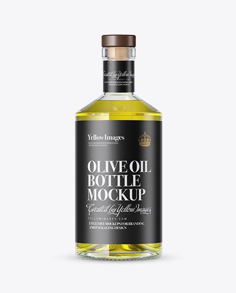 Download Clear Glass Olive Oil Bottle Mockup PSD Template Free Mockups