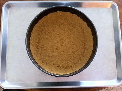 Springform Pan Placed on Half Sheet Pan