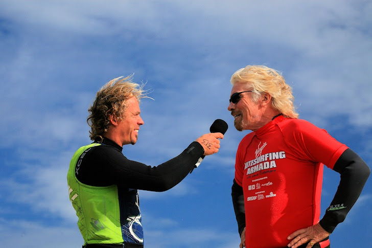 Richard Branson: Admiral of the Virgin Kitesurfing Armada