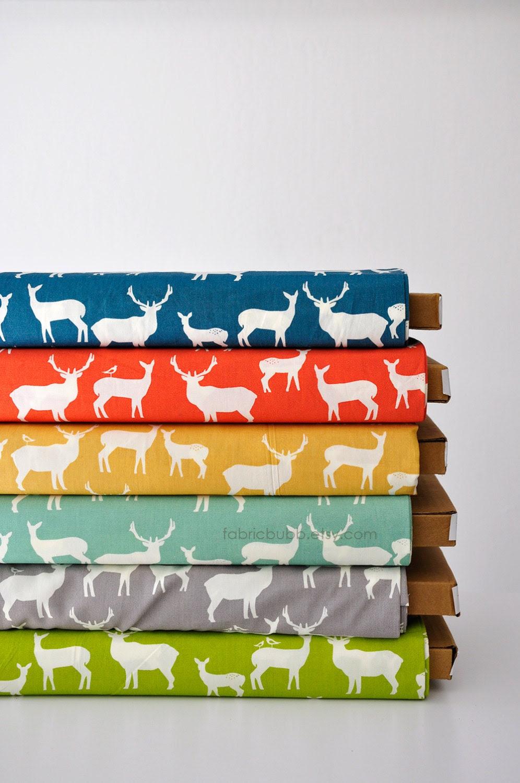 FAT QUARTER, Elk Family Mod Basics 2, Jay Cyn for Birch Fabrics, Organic Fabric