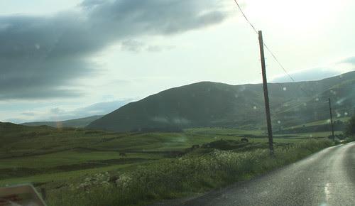 Road through Scottish borders