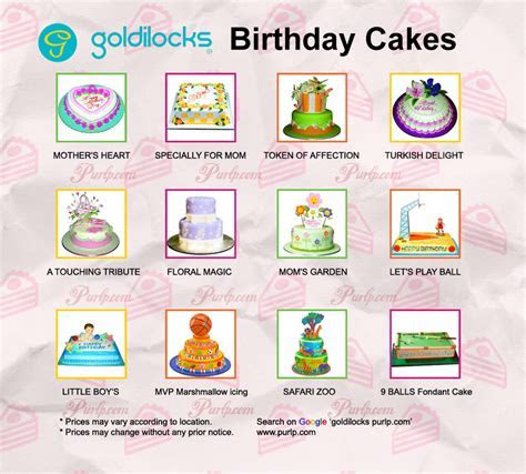 goldilocks themed cakes philippines   Cake Recipe