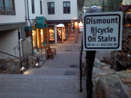 On the Dismounting of the bikecycles