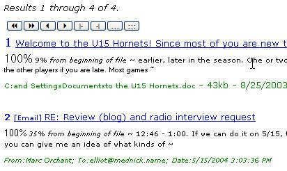snapshot of filehand search