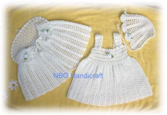 AMAZINGCROCHET Christening Collar Poncho Outfit crochet pattern