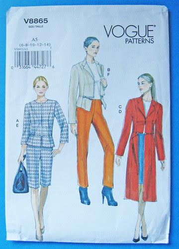 Vogue 8865 pattern jacket