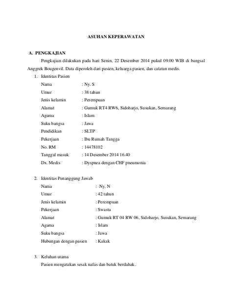 Contoh Curriculum Vitae Keperawatan - Simak Gambar Berikut