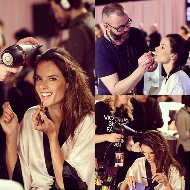 Alessandra exibe toda sua beleza nos bastidores (Foto: Instagram)