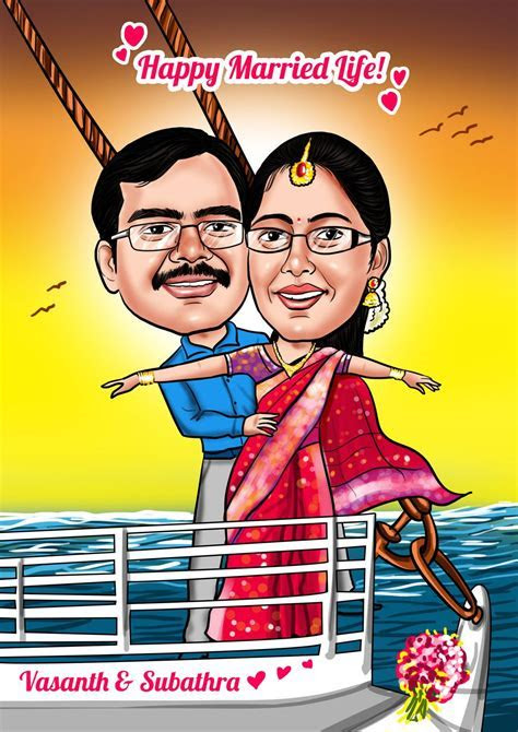 Pin by Elo on Indian Wedding Caricature Cards   Wedding