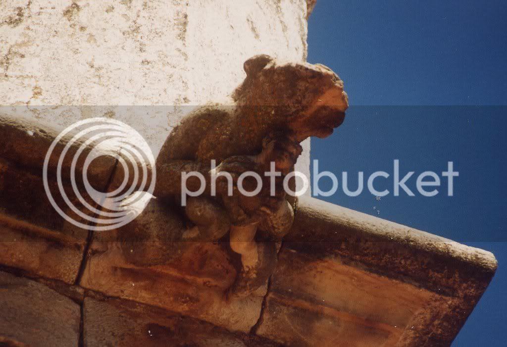 urso e menino, catedral de Plasencia