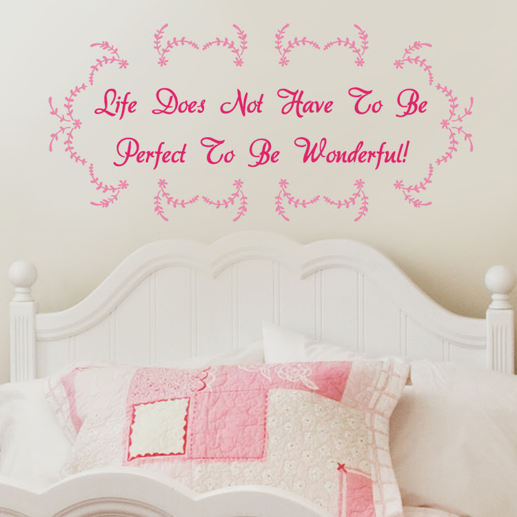 Life Doesnt Have To Be Perfect Quote Wall Decals Stickers