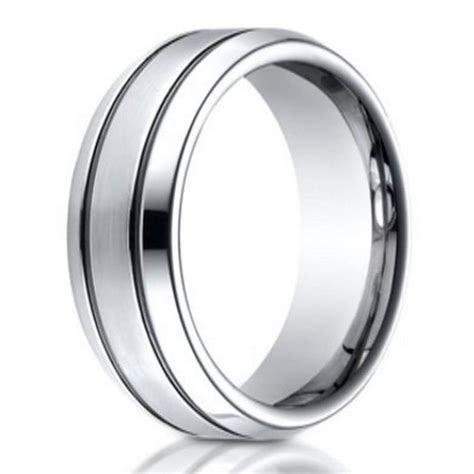 Men's cobalt wedding band from Benchmark   7mm: Just Men's