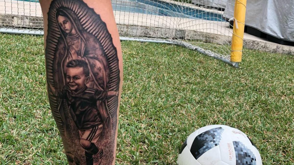André Pierre Gignac Presume Tatuaje De La Virgen De Guadalupe As