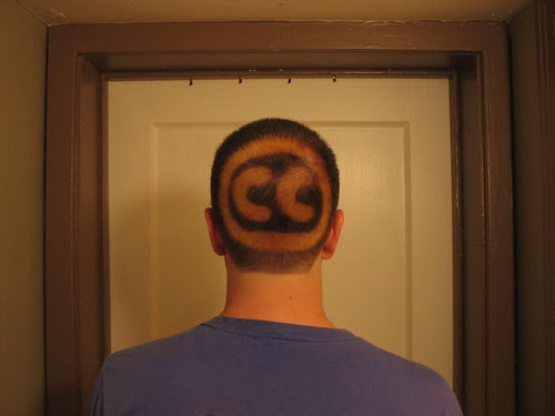 Creative Commons logo on my head