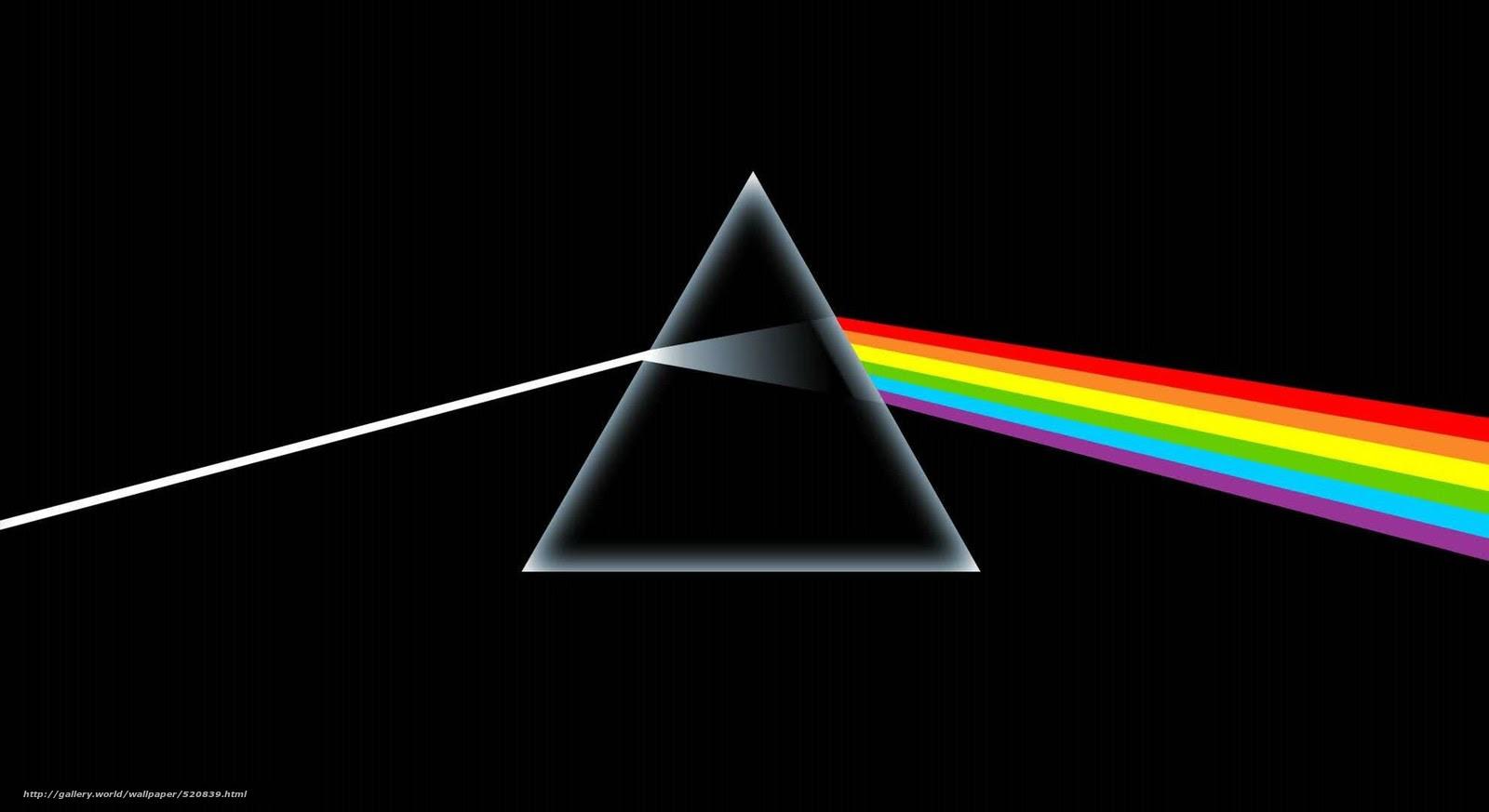 壁紙をダウンロード プリズム 黒 虹 デスクトップの解像度のための