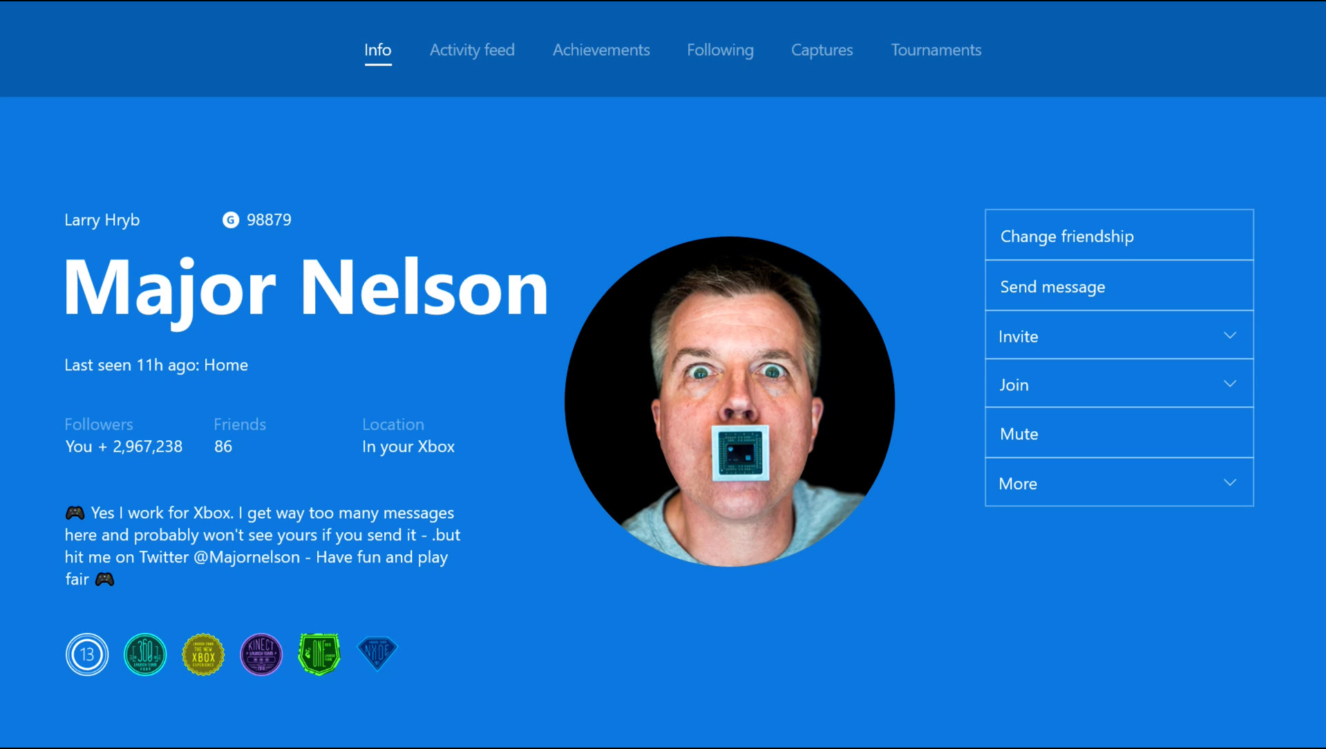 Xbox will now let you upload custom Gamerpics because it seemed like a good idea at the time screenshot
