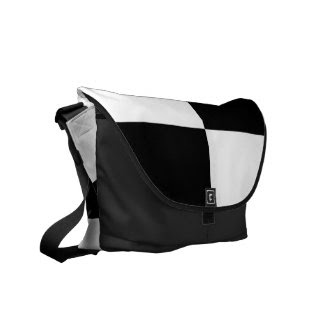 Black and White Rectangles rickshawmessengerbag