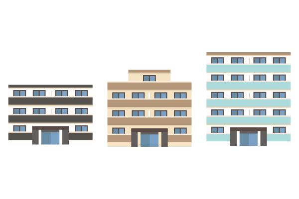 小規模マンション 街建物系イラスト専門サイトtown Illust