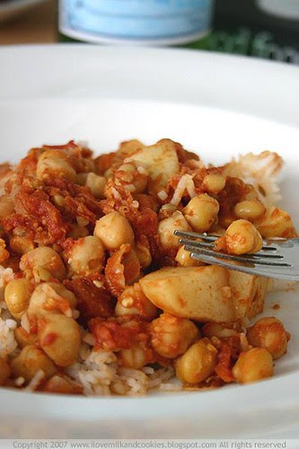 Chick Pea and Potato Curry