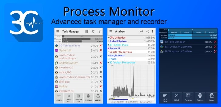 Download 3C Process Monitor Pro v2 1 APK - For Android ~ fool