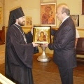 Russian Minister of Foreign Affairs Visited the Representation of the Russian Orthodox Church to the European Institutions