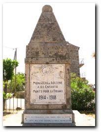 monument aux morts de Monacia d'Aullène