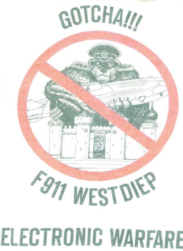 logo guerre electronique F911 Westdiep, logo copyright