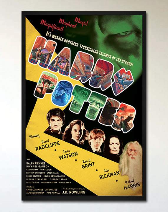 Harry Potter Retro Movie Poster Vintage Wizard by EhronAsher