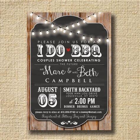 I Do BBQ Invitation Engagement Party Invite Couples Shower