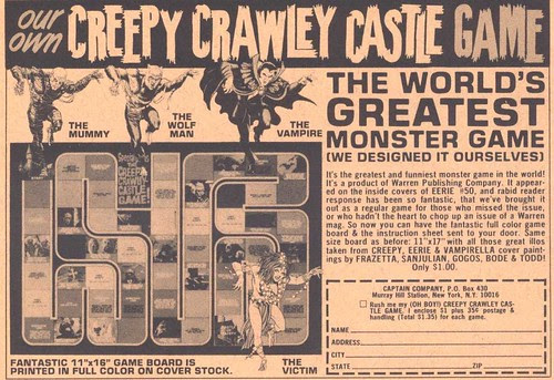 creepy crawley castle game