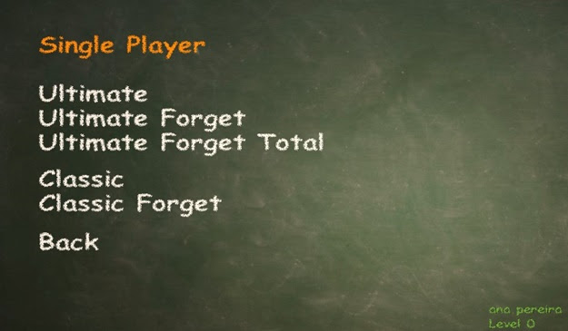 Escolhendo o tipo de jogo