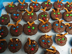 Improvised Reindeer Brownies