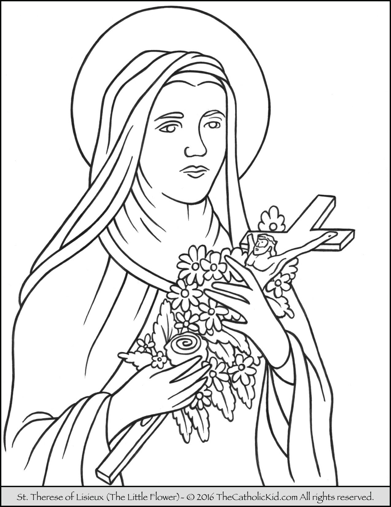 Lovely Mother Teresa Free Coloring Pages   Top Free ...